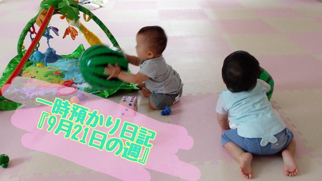 ♡ぽかぽかひろば♡ 一時預かり日記〖9月21日の週〗